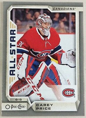 2018-19 Carey Price O-Pee-Chee Opc Silver Border Parallel #15 Canadiens