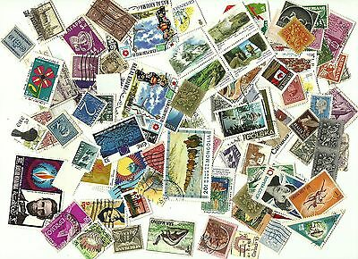 WORLDWIDE  Lots 100+ Miscellaneous Very Fine & Fine Used stamps.