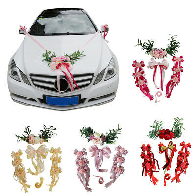Wedding Car Decoration Ribbon Kit Bows Garland Wedding Flowers