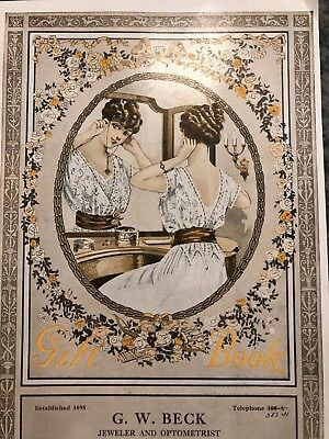 1920's JEWELRY & GIFTS Catalog G.W. Beck Jewelry and Optometrist Vineland  NJ