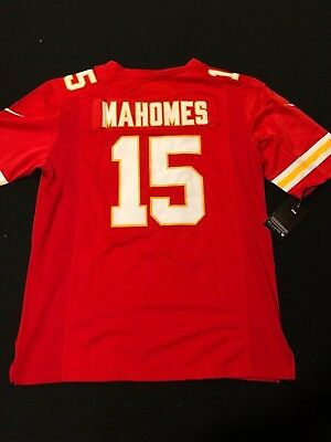 #15 Patrick Mahomes Kansas City Chiefs Mens Red Stitched Jersey S - XL - NWT