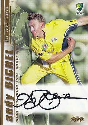 CRICKET - 2003/04 Cricket - Andy Bichel Autograph Card #SS05 (Ikon Collectables)
