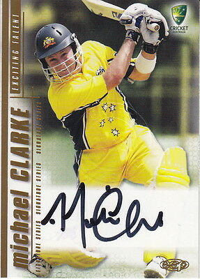 2003/04 Cricket - Michael Clarke Autograph Card #SS08 (Ikon Collectables)