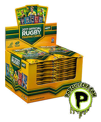 RUGBY UNION - 2017 Official Tap 'N' Play Trading Cards Sealed Box (36ct) #NEW