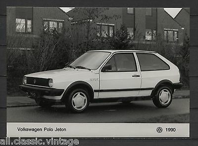 PRESS - FOTO/PHOTO/PICTURE - Volkswagen Polo Jeton 1990
