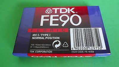 1 Sealed Blank Cassette Tape Tdk Fe 90 For Recording C90
