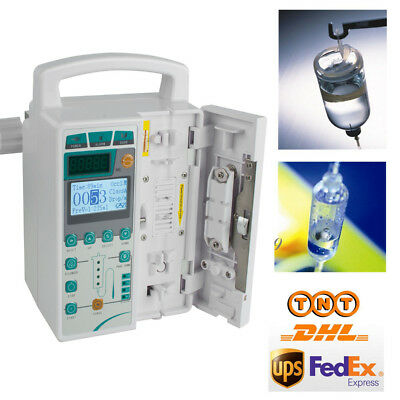 Portable LCD Infusion Pump IV & Fluid Administration Audible + visual alarm CCU