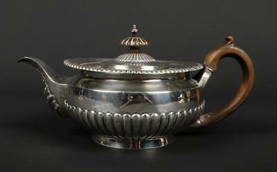 "Victorian sterling silver teapot Charles Stuart Harris London 1886 5 1/4"" high"