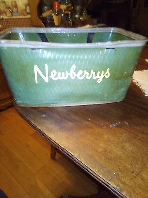 Rare Vintage Newberry's store shopping basket General Five and Dime
