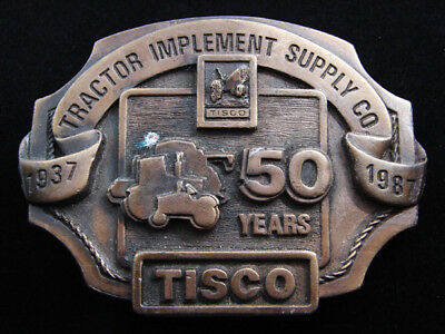 Rf01150 Vintage 1987 **tractor Implement Supply Co.** Tisco Belt Buckle