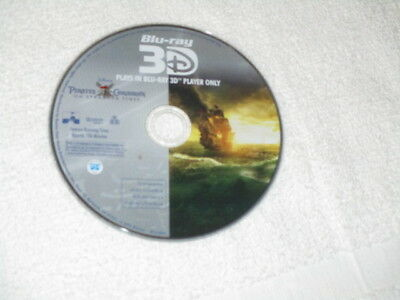 3D Movie Blu Ray PIRATES OF THE CARIBBEAN ON STRANGER TIDES DISNEY 3D DISC ONLY