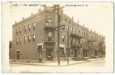 Parkersburg West Virginia WV ~ Savage Flats Apartments & Drug Store RPPC c.1908