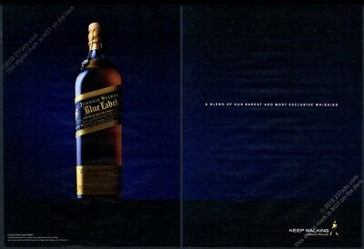 2006 Johnnie Walker Blue Label Scotch whisky bottle photo vintage print ad