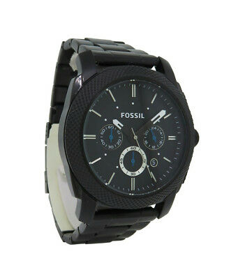 Fossil PR5404 Men's Round Carbon Analog Chronograph Date Stainless Steel Watch