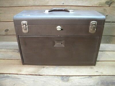 Vintage Kennedy 520 Tool Chest 7 drawer with key.