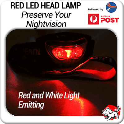 Red & White LED Astronomy Headlamp / Night Light / Head Torch for Nightvision