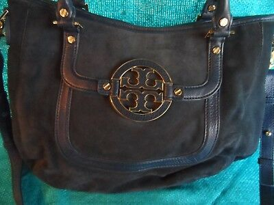 TORY BURCH designer suede and leather large handbag