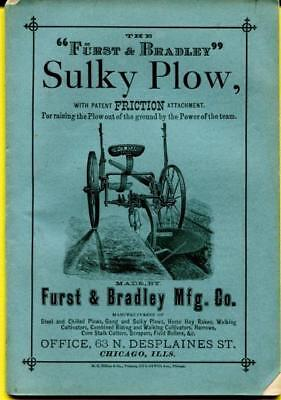 Rare Vtg 1880 Adv Farm Instructional Manual Horse Drawn Sulky Plow by Furst & Br