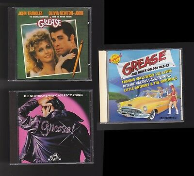 GREASE 3 CD LOT:Original Film Soundtrack/New Broadway Cast/Other Oldies DooWoop