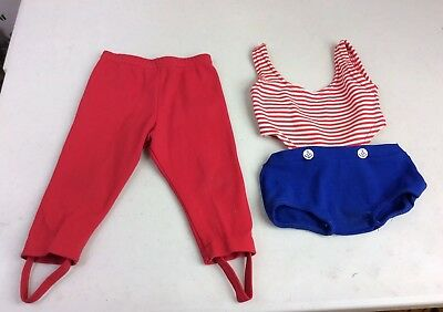 Vintage Nautical French Baby Swimsuit & Spandex Stirrup Pants 12 months