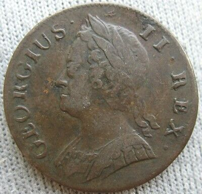 1742 Great Britain Copper 1/2 Penny