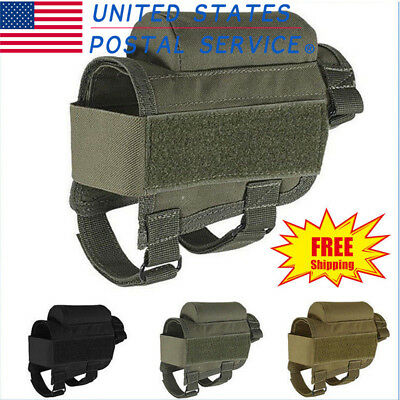 Tactical Portable Buttstock Shell Cheek Rest Pouch Holder With Ammo Carrier Case