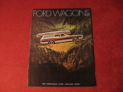 1969 Ford Station Wagon booklet Dealership Brochure Old Original Vintage Book