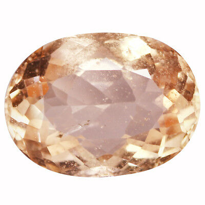 4.94Ct Grand look Oval cut 14 x 10 mm Top Fire Peach Pink Morganite