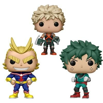 "Pop My Hero Academia DEKU ALL MIGHT KATSUKI Vinyl Figure 4"" New in Box"