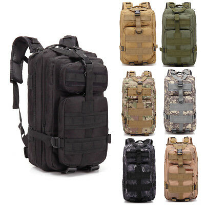 30L Outdoor Adjustable Military Tactic Backpack Sport Camping Hiking Travel