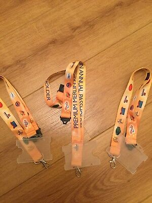 Alton Towers. Merlin Pass Holder Lanyards. Chessington  Lego Land. Sea life New