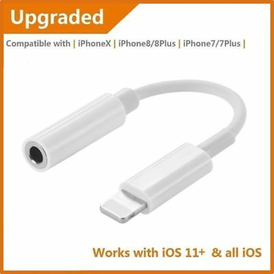 For iPhone X 8 Lightning To 3.5mm Earphone Headphone Jack Aux Adapter Cable 2019
