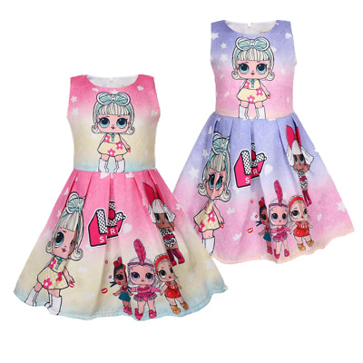 Clearanc Girl Princess Fancy Dress Cosplay Costumes Party Birthday Dress 3-8 Yrs