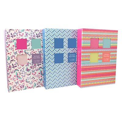 """5"""" x 7"""" Photo Albums 200 Pocket Designer Family Holiday Wedding Memories Picture"""