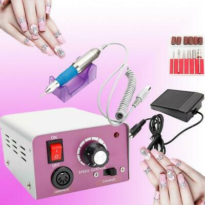 New Professional Electric Nail Drill File Manicure Pedicure Tool Kit 25000RPM