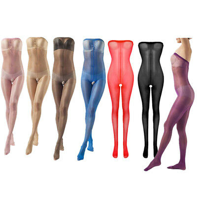 Sexy Women Full Body Tights  Stocking Open Crotch Lingerie Pantyhose Socks