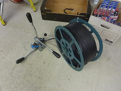 Pallet Banding & Strapping Tool Machine LARGE STOCK 8000mts  Black & Blue