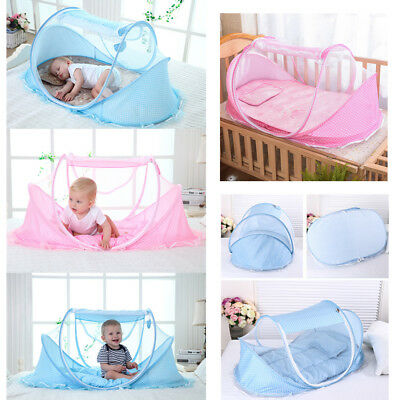 Baby Foldable Infant Mosquito NetTravel Cot Tent Mattress Cradle Crib Bed Pillow