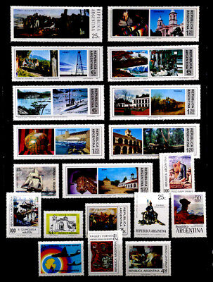 Argentina: 1970's Mint Never Hinged Stamp Collection With Sets All Sound