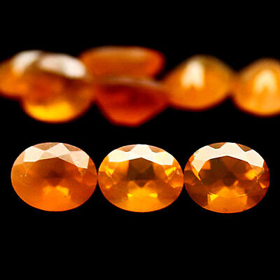 2.28 Ct Natural! 9Pcs Orange Ethiopia Opal Oval