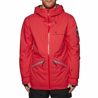 376ad5cb255 Quiksilver Mens Spindye Jacket Snowboard - Flame All Sizes
