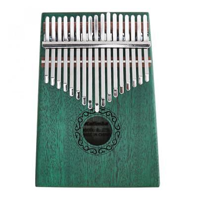 17 Key Green Kalimba Single Board Mahogany Thumb Piano Keyboard Instrument Gifts