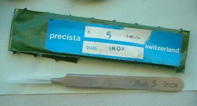 watchmaker Precista Quality swiss Tweezers number 5  Nice tool watch repairer