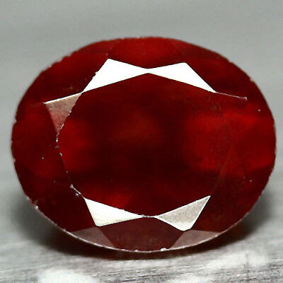 4.99 Ct Natural! Red African Hessonite Garnet Oval