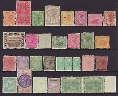 A Wonderful Selection of 30 Mixed Australian State Stamps, Unused