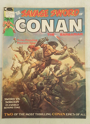 Savage Sword of Conan the Barbarian Vol. 1. Issue #1 Marvel Comics 1974