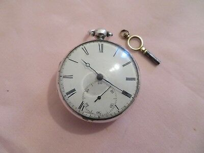 1831 Solid Silver Fusee Pocket Watch By J P Pearson Of Louth. With Key Working