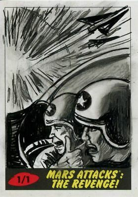 Mars Attacks The Revenge Sketch Card By Neil Camera