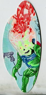 Mars Attacks The Revenge Shaped Sketch Card By Dan Curto