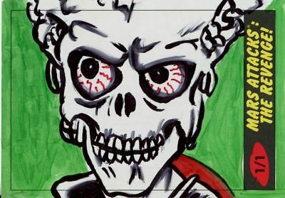 Mars Attacks The Revenge Sketch Card By Jennifer Allyn